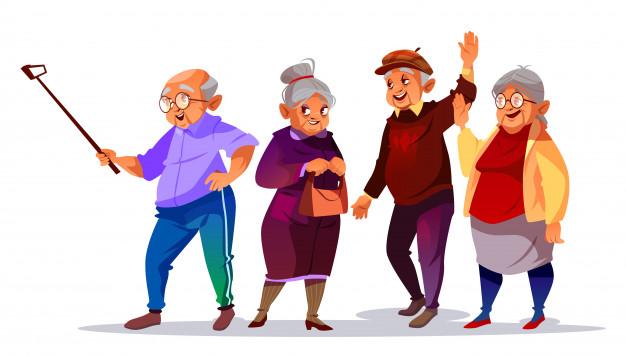old-people-making-photo-selfie-illustration-cartoon-elderly-man-woman-smiling_33099-577